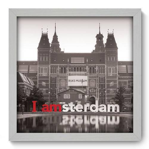 Quadro com Moldura - 33x33 - Amsterdam - N1013