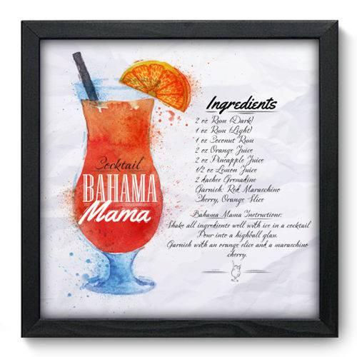 Quadro com Moldura - 33x33 - Bahama Mama - N3083