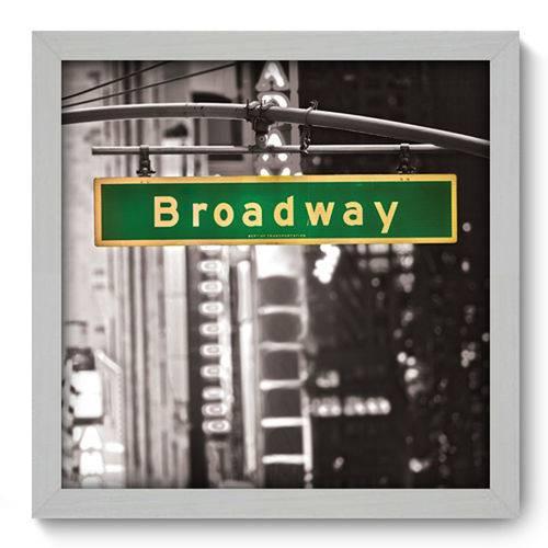 Quadro com Moldura - 33x33 - Broadway - N1008