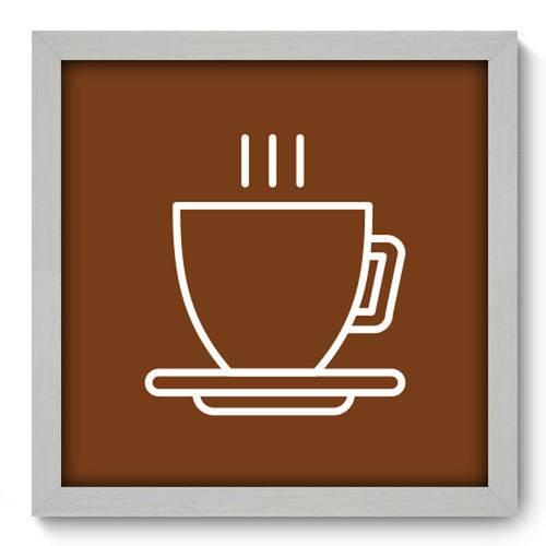 Quadro com Moldura - 33x33 - Coffee - N1077