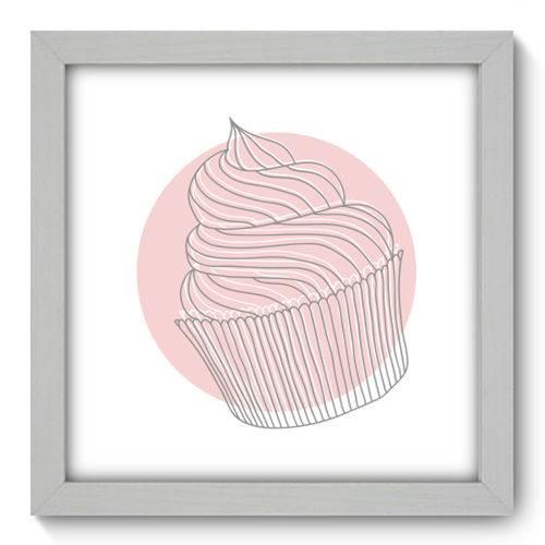 Quadro com Moldura - 22x22 - Cupcake - N1046