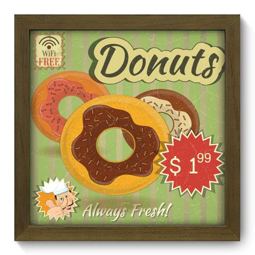 Quadro com Moldura - 22x22 - Donuts - N2037