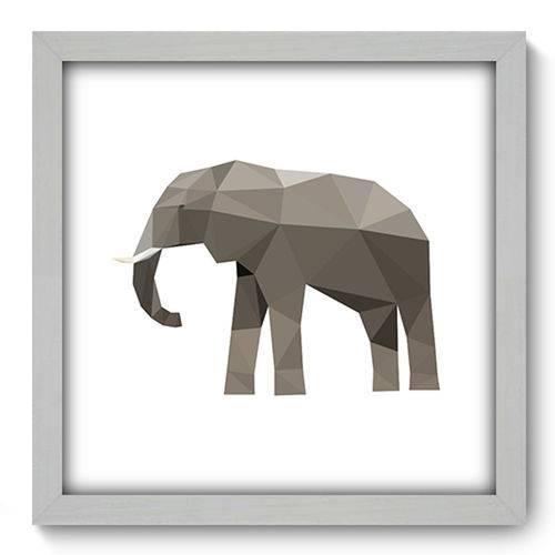 Quadro com Moldura - 33x33 - Elefante - N1221