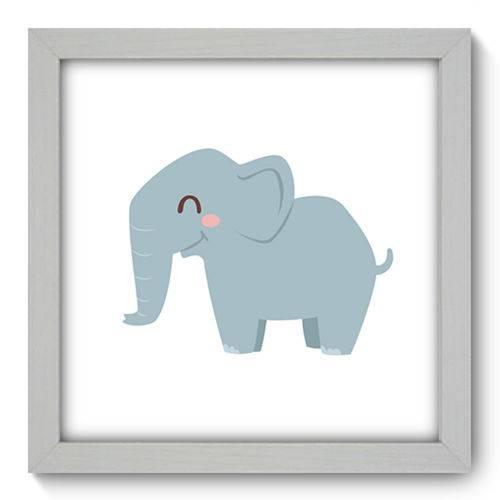 Quadro com Moldura - 22x22 - Elefante - N1138