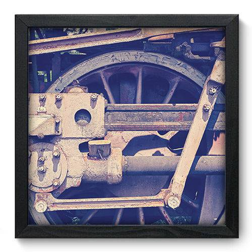 Quadro com Moldura - 33x33 - Ferrovia - N3327