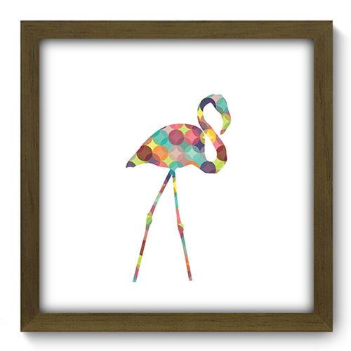 Quadro com Moldura - 33x33 - Flamingo - N2257