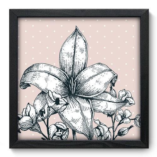 Quadro com Moldura - 33x33 - Floral - N3063