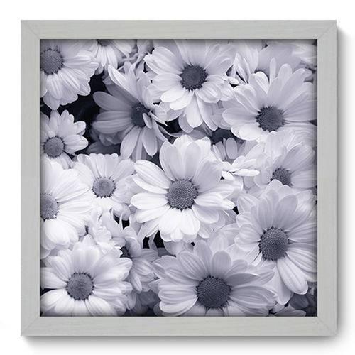 Quadro com Moldura - 33x33 - Flores - N1069