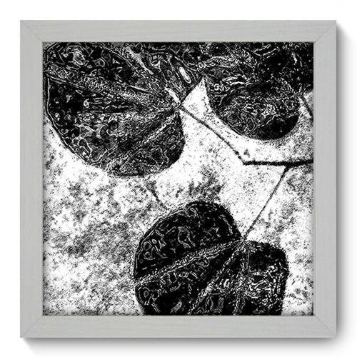 Quadro com Moldura - 22x22 - Folhas - N1059