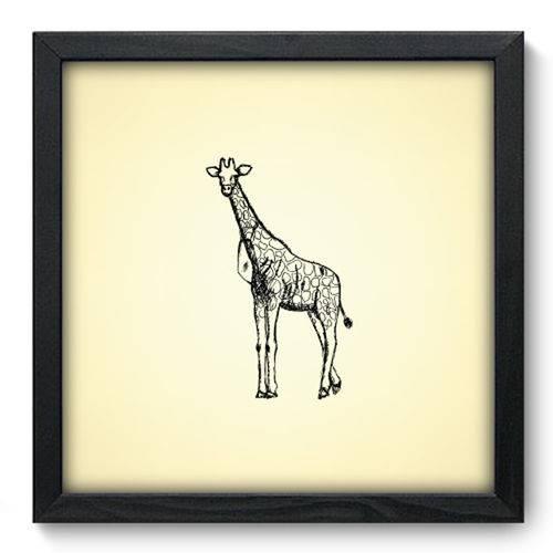 Quadro com Moldura - 33x33 - Girafa - N3062