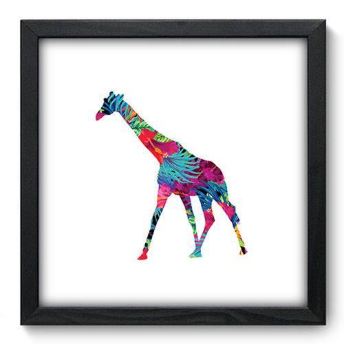 Quadro com Moldura - 33x33 - Girafa - N3295