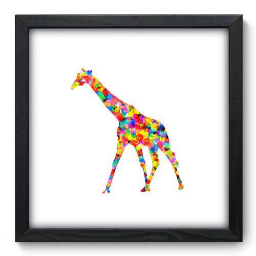 Quadro com Moldura - 33x33 - Girafa - N3296