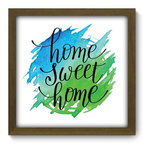 Quadro com Moldura - 33x33 - Home Sweet Home - N2150