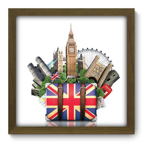 Quadro com Moldura - 33x33 - London Trip - N2068