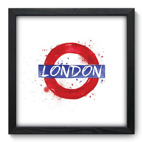 Quadro com Moldura - 33x33 - Londres - N3160