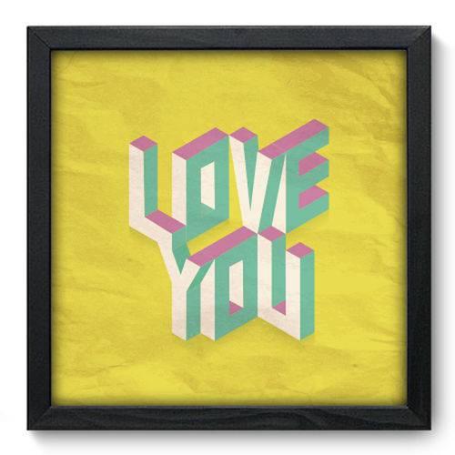 Quadro com Moldura - 33x33 - Love You - N3034