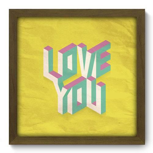 Quadro com Moldura - 33x33 - Love You - N2034