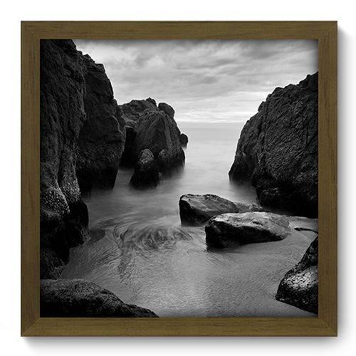 Quadro com Moldura - 33x33 - Praia - N2073