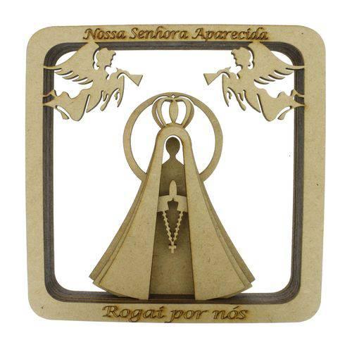 Quadro 3D - Nossa Senhora Aparecida - Cru