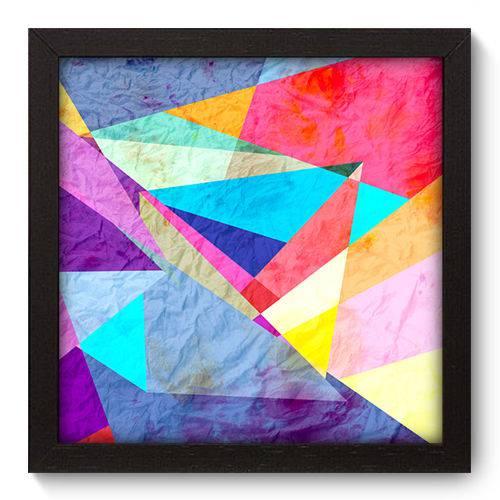 Quadro Decorativo - Abstrato - 22cm X 22cm - 030qnaap