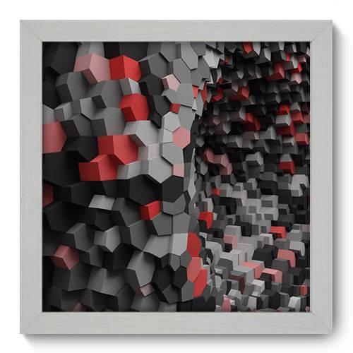 Quadro Decorativo - Abstrato - 22cm X 22cm - 021qnaab