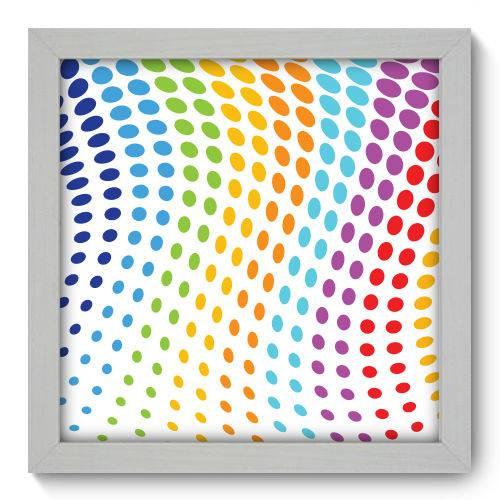 Quadro Decorativo - Abstrato - 22cm X 22cm - 050qnaab