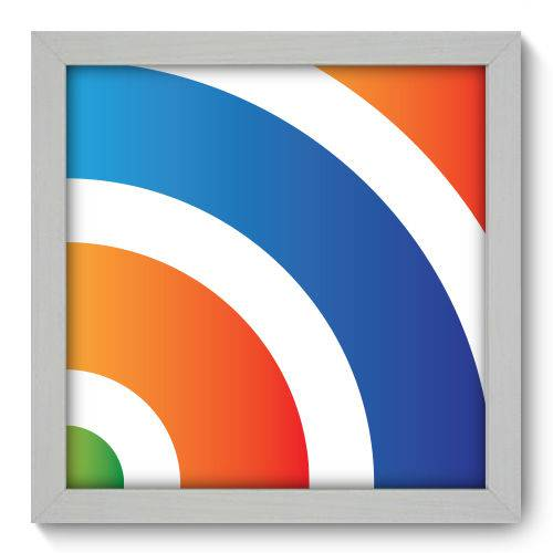 Quadro Decorativo - Abstrato - 22cm X 22cm - 056qnaab