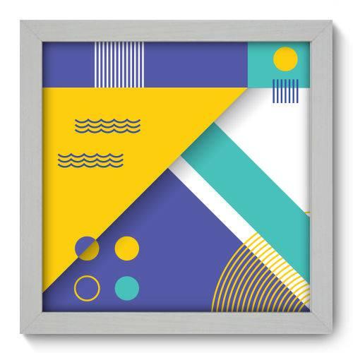 Quadro Decorativo - Abstrato - 22cm X 22cm - 059qnaab