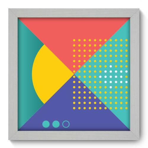Quadro Decorativo - Abstrato - 22cm X 22cm - 060qnaab