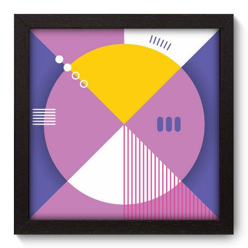 Quadro Decorativo - Abstrato - 22cm X 22cm - 061qnaap