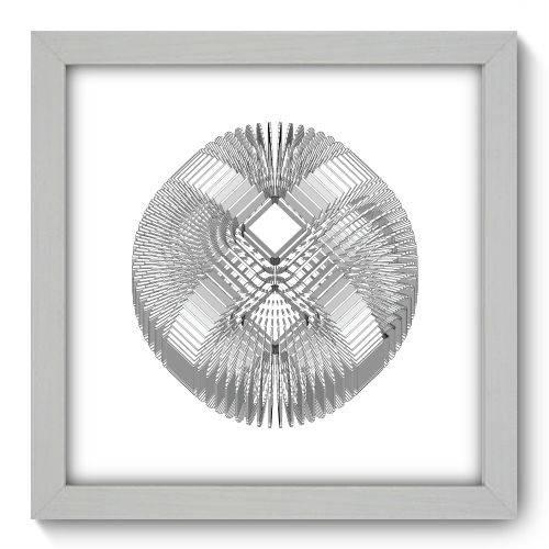 Quadro Decorativo - Abstrato - 22cm X 22cm - 088qnaab