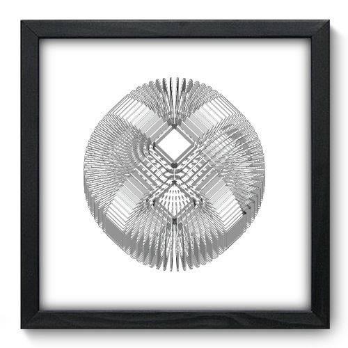 Quadro Decorativo - Abstrato - 33cm X 33cm - 088qnabp