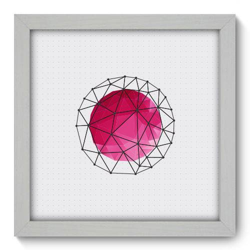 Quadro Decorativo - Abstrato - 22cm X 22cm - 091qnaab