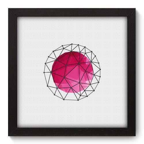 Quadro Decorativo - Abstrato - 22cm X 22cm - 091qnaap