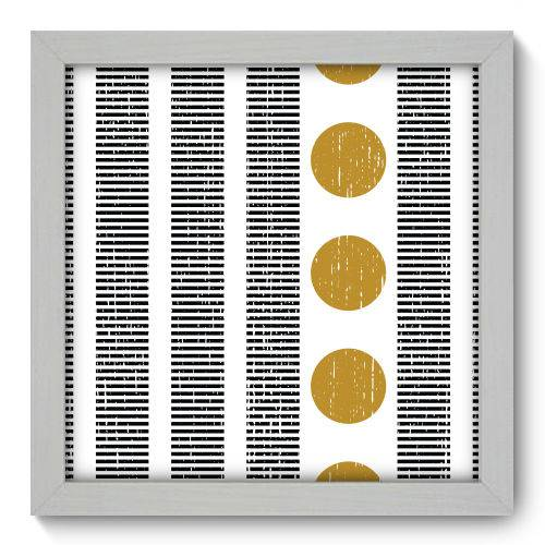 Quadro Decorativo - Abstrato - 22cm X 22cm - 119qnaab
