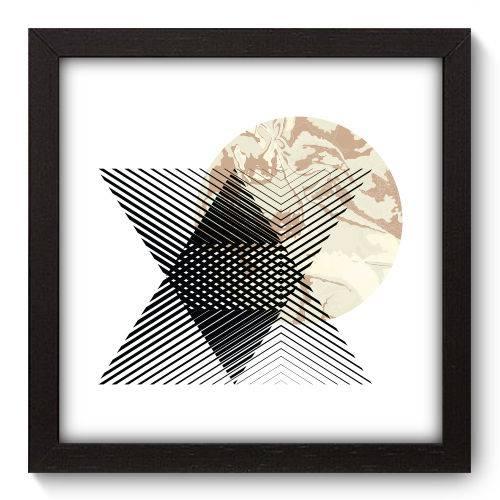 Quadro Decorativo - Abstrato - 22cm X 22cm - 158qnaap