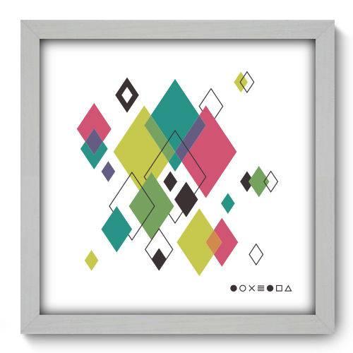 Quadro Decorativo - Abstrato - 33cm X 33cm - 125qnabb