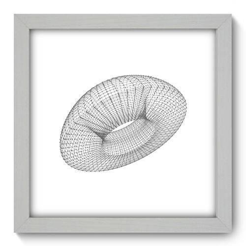 Quadro Decorativo - Abstrato - 22cm X 22cm - 136qnaab