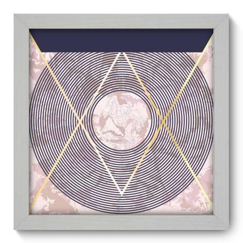 Quadro Decorativo - Abstrato - 22cm X 22cm - 179qnaab