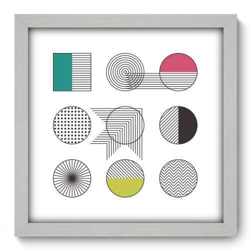 Quadro Decorativo - Abstrato - N2126 - 33cm X 33cm