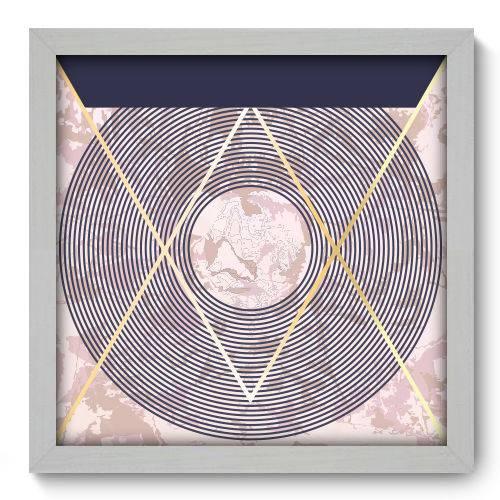 Quadro Decorativo - Abstrato - N2179 - 33cm X 33cm
