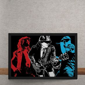 Quadro Decorativo AC DC Angus Young 25x35