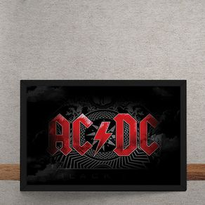 Quadro Decorativo AC DC Logo 25x35