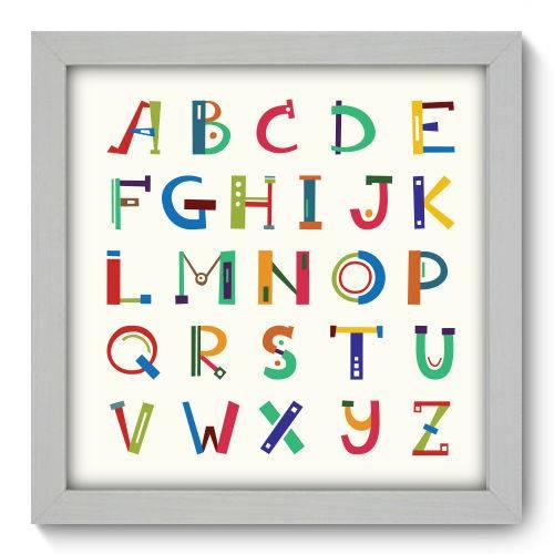 Quadro Decorativo - Alfabeto - 22cm X 22cm - 087qndab
