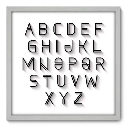 Quadro Decorativo - Alfabeto - N3086 - 50cm X 50cm