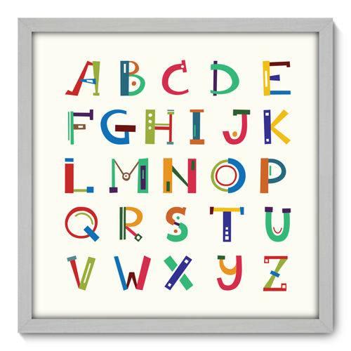 Quadro Decorativo - Alfabeto - N3087 - 50cm X 50cm