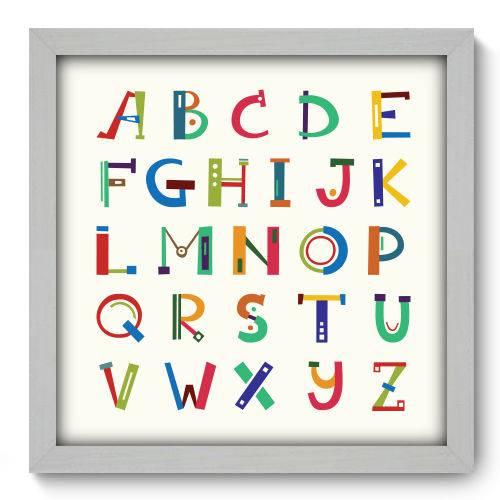 Quadro Decorativo - Alfabeto - N2087 - 33cm X 33cm