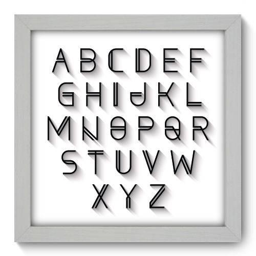Quadro Decorativo - Alfabeto - N1086 - 22cm X 22cm