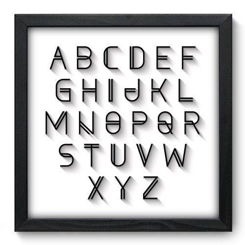Quadro Decorativo - Alfabeto - N6086 - 33cm X 33cm