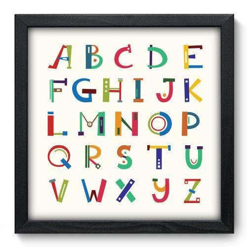 Quadro Decorativo - Alfabeto - N6087 - 33cm X 33cm